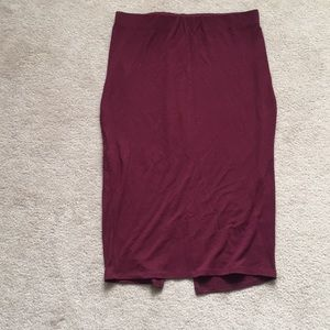 Forever 21 Pencil Skirt maroon color